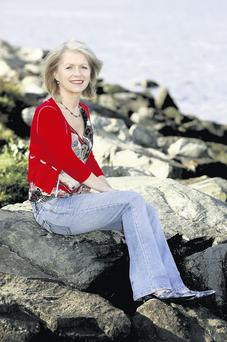 Author Bernadette Bohan relaxes at the sea at Malahide