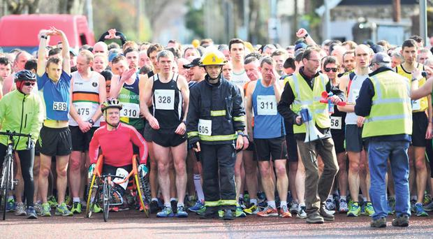Good luck to Cork firefighter Alex O'Shea, who is attempting to break the Guinness World Record for running a marathon in full firefighting gear at the Cork City Marathon today.