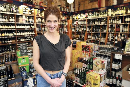 Ruth Deveney at her off-licence in Dundrum. Picture:Arthur Carron