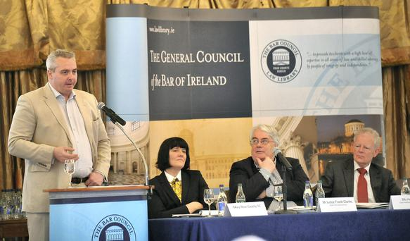 Remy Farrell SC addressing the Bar of Ireland Conference in Westport. Picture: Conor McKeown