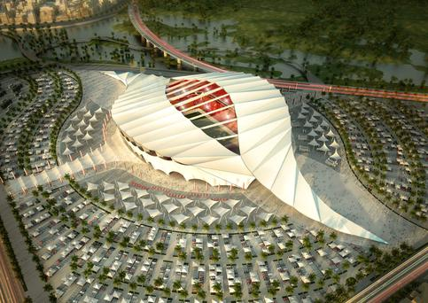 An artists impression of the Al-Khor stadium
