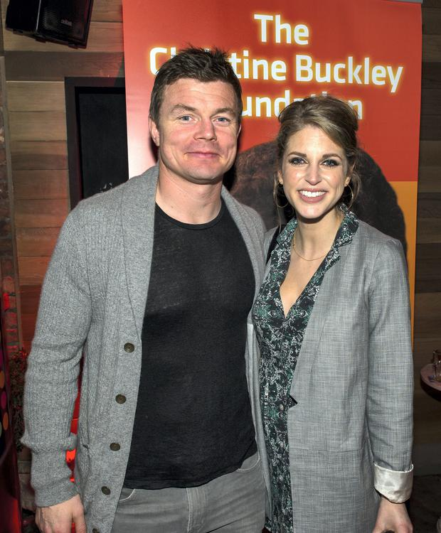 Brian O'Driscoll and Amy Huberman at the Christine Buckley Foundation event