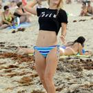 Caroline Wozniacki is seen on Miami Beach on May 31, 2014 in Miami, Florida. (Photo by Dave Lee/GC Images)