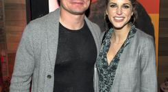 Sunday 01 June 2014. Christine Bckley Foundation event at Everligh Nite Club on Harcourt St. L to R: Brian O'Driscoll and Amy Huberman.