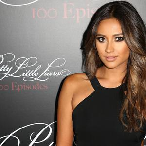 Actress Shay Mitchell attends the 'Pretty Little Liars' 100th episode celebration at W Hollywood