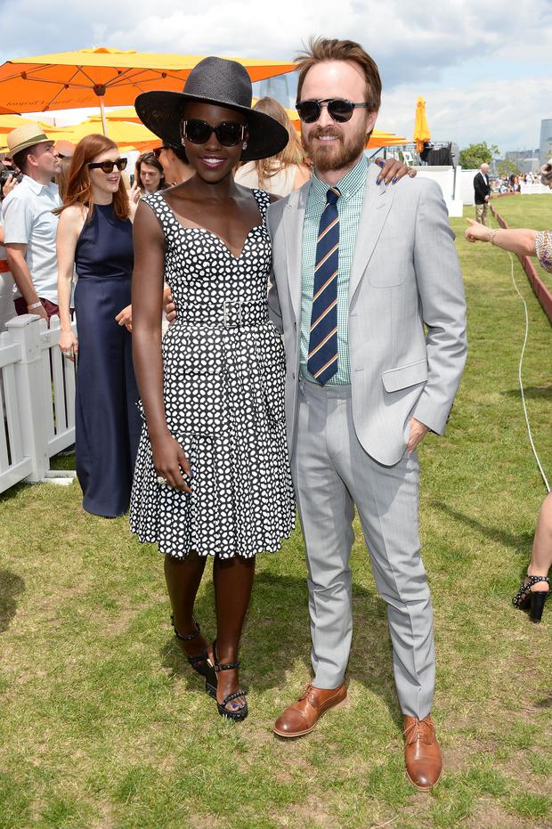 Lupita Nyong'o; Aaron Paul attend the seventh annual Veuve Clicquot Polo Classic in Liberty State Park