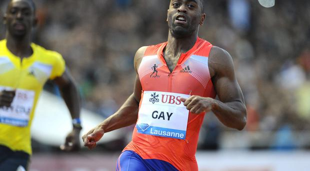 Tyson Gay will return to sprint at Lausanne, the scene of his last race before his suspension for doping. Photo: ALAIN GROSCLAUDE/AFP/Getty Images