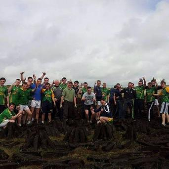 The Naomh Columba panel poses with 'Tomás'