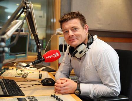 Brian O'Driscoll poses in the Newstalk studio after the announcement