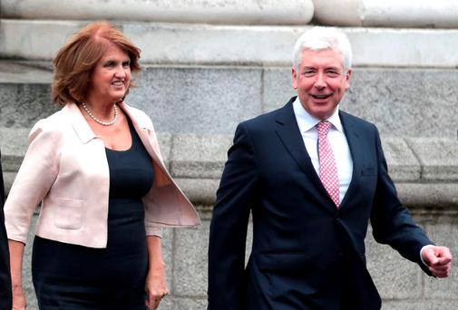 Joan Burton and Alex White