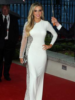 Claudine Keane arrives for the Pride of Ireland awards celebrating the country's unsung heroes at the Mansion House in Dublin. Photo credit: Niall Carson/PA Wire