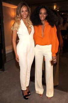 Beyonce and Solange attend the CHIME FOR CHANGE One-Year Anniversary Event