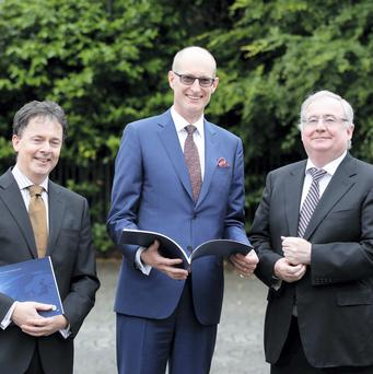 Pictured (l-r) at the launch of the Second UPC Report on Ireland's Digital Future were Gerard O'Neill, Chairman of Amárach Research, UPC Chief Executive Magnus Ternsjö and Communications Minister Pat Rabbitte, T.D.
