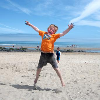 Conor Meehan, Tallaght, on Portmarnock Beach. Picture: Arthur Carron/Collins