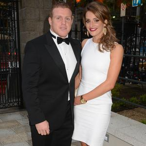 Sean Cronin and Claire Mulcahy at this year's Leinster Ball