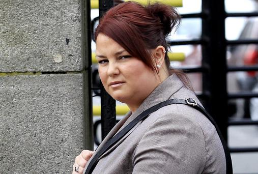 Michelle Kenny, of Crumlin, Dublin, who was awared €55,000 in damages. She had sued St. James's Hospital after she was given a false HIV positive test result after two samples were mixed up.