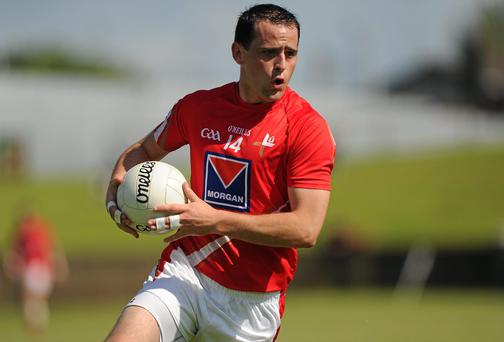 Shane Lennon in action for Louth
