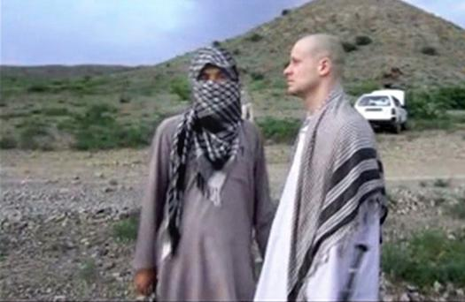 Image showing the handover of Sgt Bowe Bergdahl to the American military close to the Afghan border with Pakistan