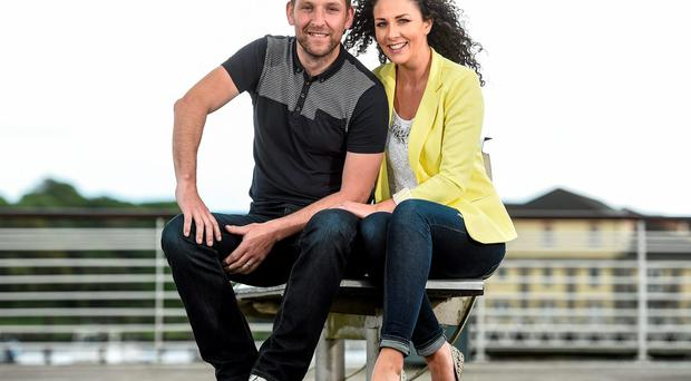 Ken McGrath with his wife Dawn at the launch of The Ken McGrath Rehabilitation Fund
