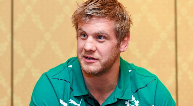 Ireland's Chris Henry during a press conference ahead of their opening Summer Tour 2014 test game against Argentina on Saturday