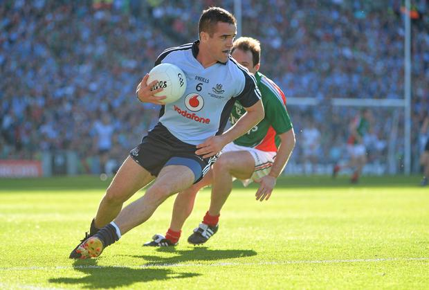 Dublin's Ger Brennan in action against Mayo
