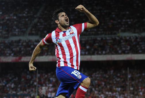 Diego Costa of Club Atletico de Madrid is on the verge of completing a transfer to Chelsea (Photo by Denis Doyle/Getty Images)