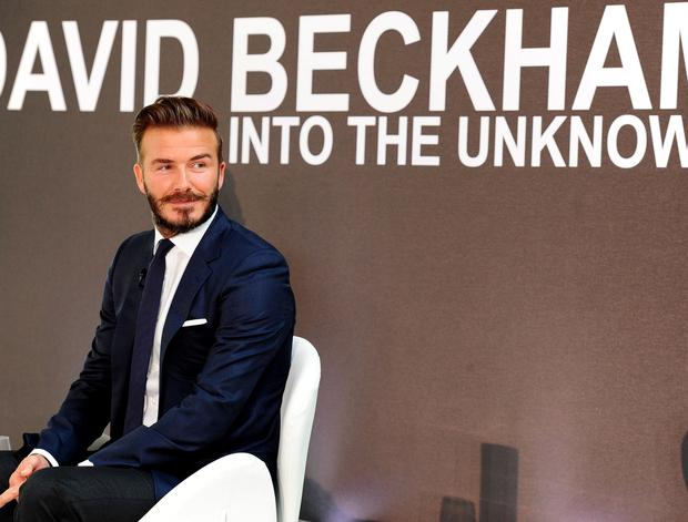 David Beckham is questioned by Michael Palin