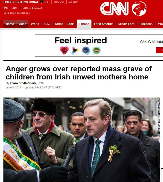 CNN reports that public anger is rising over the discovery of the grave.