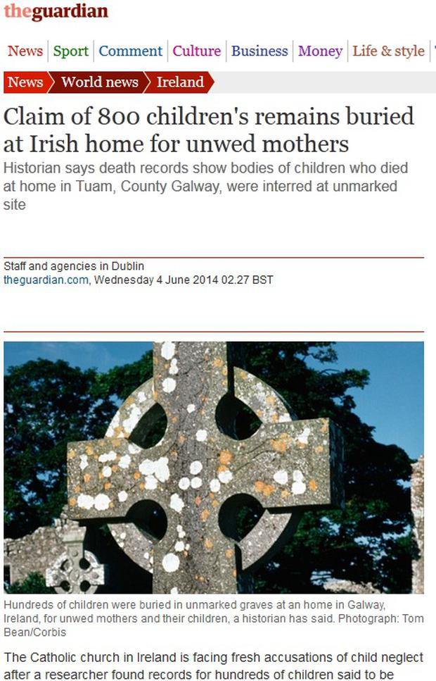 Britain's Guardian newspaper reports that a historian made the discovery of the grave during research.