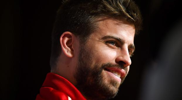 Gerard Pique during the press conference