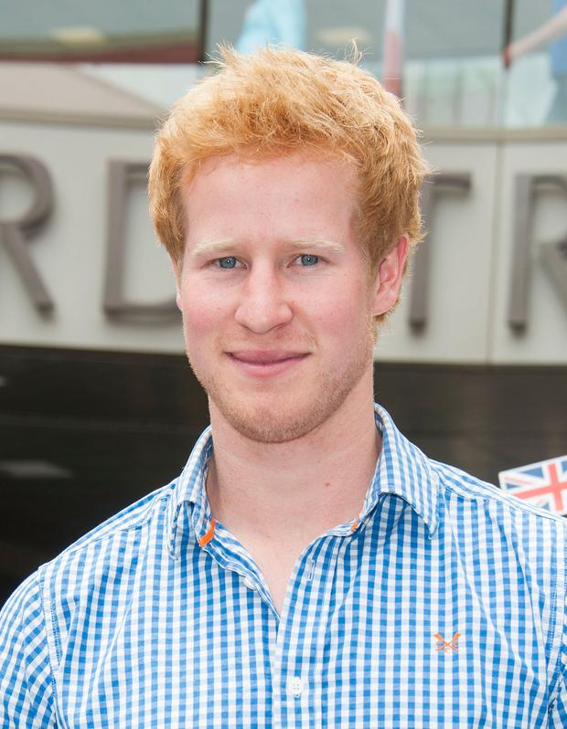 "Prince Harry lookalike Matthew Hicks arrives at FOX's ""I Wanna Marry Harry"" Wedding Cake Ring Dive at Santa Monica Place on May 22, 2014 in Santa Monica, California."