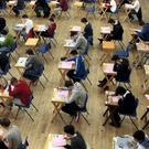 Pupils of Marian College, Ballsbridge, Dublin sitting their Leaving Certificate Examination. Photo: Tom Burke