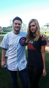 Jack and Nicola at yesterday's Chicago Cubs game