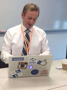 Enda Kenny on Facebook's headquarters in California