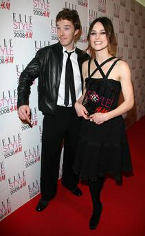 LONDON - FEBRUARY 12: Ben Cumberbatch and Kiera Knightley pose in the press room with her Best Actress at the Elle Style Awards 2008 at The Westway on February 12, 2008 in London, England. (Photo by Jon Furniss/WireImage)