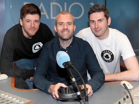 Mark Horgan, Eoin McDevitt and Ciaran Murphy of The Second Captains team which is set to join RTÉ Radio 1 with a brand-new weekly GAA show. Second Captains Championship will broadcast at 6pm on Sundays from June 22nd. The show will be presented by three-time PPI sports broadcaster of the year Eoin McDevitt along with his co-presenter, Ciaran Murphy. Pic: Brian McEvoy