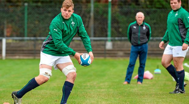Ireland's Jordi Murphy during squad training ahead of their opening Summer Tour 2014 test game against Argentina on Saturday. Ireland Rugby Squad Training, San Isidro Club, Buenos Aires, Argentina. Picture credit: Stephen McCarthy / SPORTSFILE