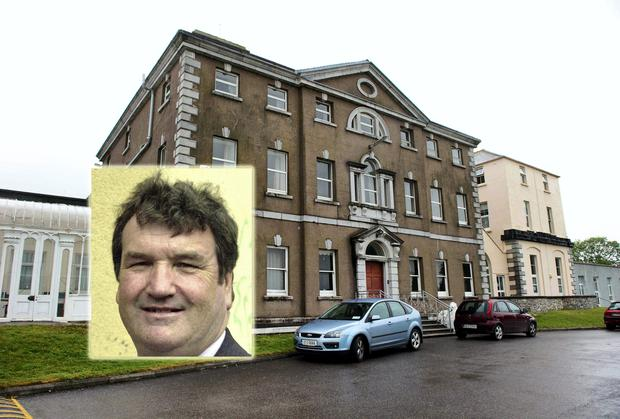 Sacred Heart Convent in Cork where John Barret (inset) was born