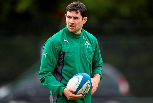 Ireland's Felix Jones during training in Buenos Aires