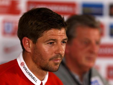 Steven Gerrard during a press conference
