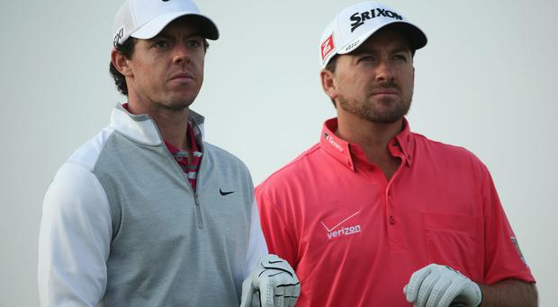 Rory McIlroy and Graeme McDowell will tee it up together for the first time at a Major at next week's US Open. Photo: Andrew Redington/Getty Images