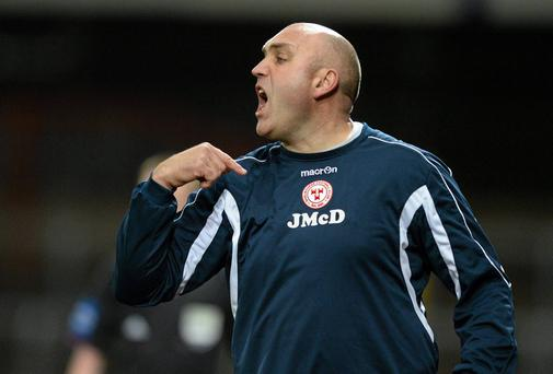 Shelbourne manager Johnny McDonnell saw his side squeeze past Waterford United in the second round of the FAI Ford Cup. Photo: Diarmuid Greene / SPORTSFILE