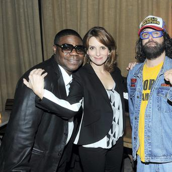 Tracy Morgan (left) with fellow '30 Rock' stars Tina Fey and Judah Friedlander