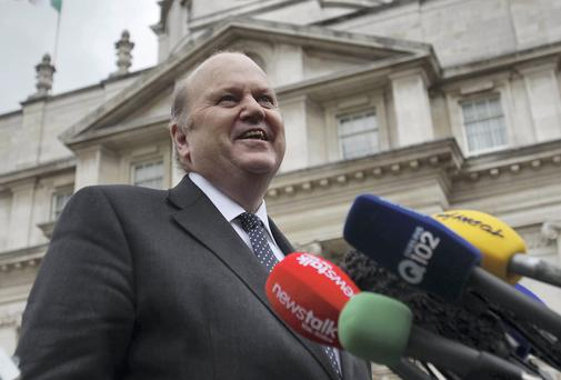 Minister for Finance Michael Noonan pictured at Government Buildings