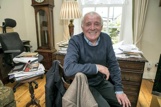 Eamon Dunphy pictured at his home in Ranelagh. Picture: Kyran O'Brien