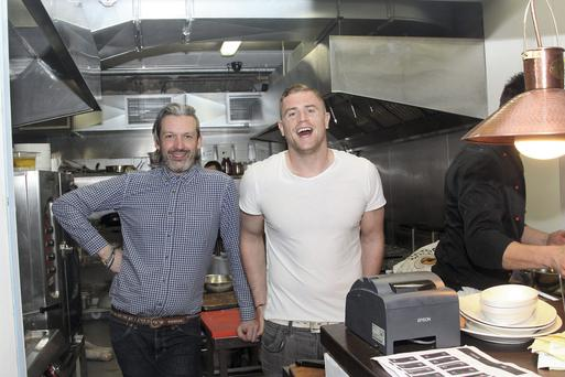Joe Macken, left, and Jamie Heaslip at their Bear restaurant in Dublin