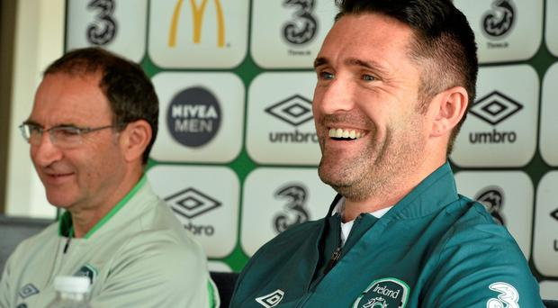 Republic of Ireland manager Martin O'Neill with captain Robbie Keane