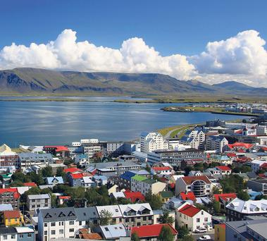 A view over the picturesque Reykjavik.