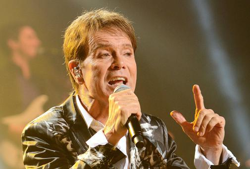 Cliff Richard performing at the Bord Gais Energy Theatre at the weekend