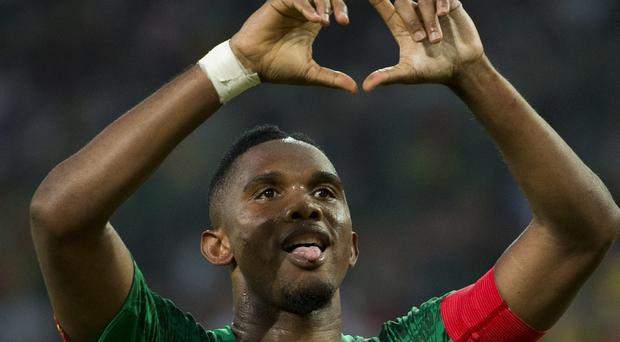 Samuel Eto'o was among the Cameroon stars who are taking strike action over a pay dispute with the country's football federation. Photo: JOHN MACDOUGALL/AFP/Getty Images